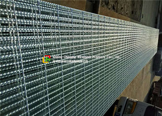 Hot Dipped Galvanized Serrated Steel Grating For Stair Tread / Ditch Cover