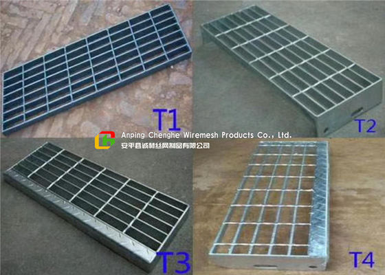 Construction Metal Stair Steps , Exterior Metal Stair Treads 40mm Width