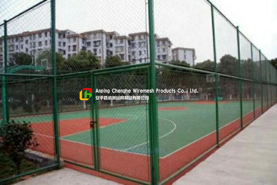 Sports Field Wire Mesh Fence Stainless Steel Green Color Gavlanized Finish