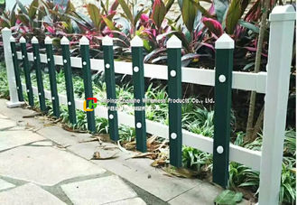 White Safety Wire Mesh Fence / Railing Beautiful Folded Mesh For Garden